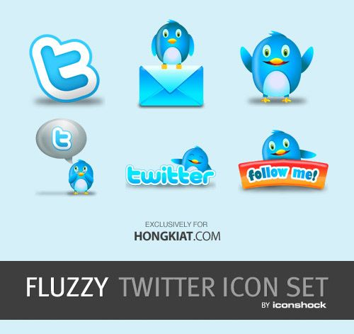 "[Халява] ""Fluzzy"" Twitter Icon Set"