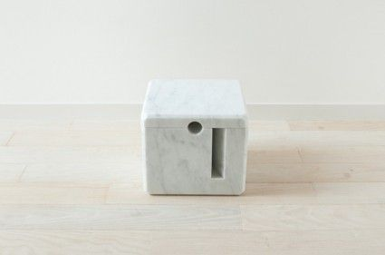 Is it a piece of Japanese minimal art in marble? Yes.