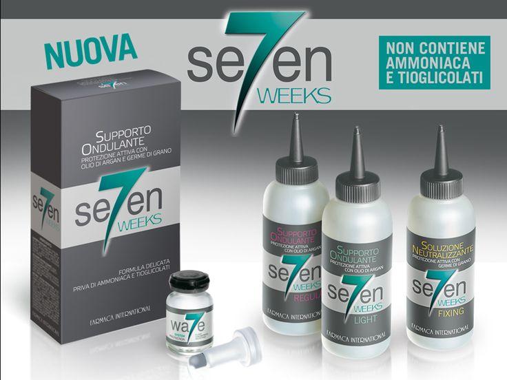 """Per i capelli Ondulati perfetti Farmaca International, rivoluziona """"Seven Weeks"""", la nuova formula, più delicata all'Olio di Argan e Germe di Grano renderà i vostri capelli mossi, perfetti come non avreste mai immaginato."""
