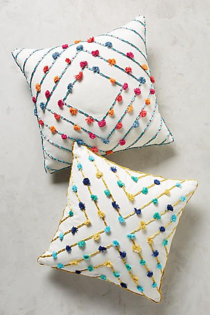 Anthropologie Suzette Tasseled Pillow