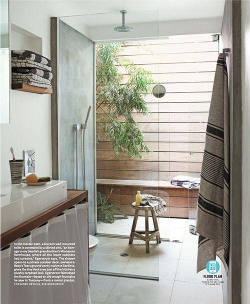 dream bathroom modern wood glass by mark egerstorm in house beautiful