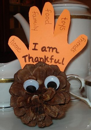 Thanksgiving Pine Cone Turkey  -for the little kids at church