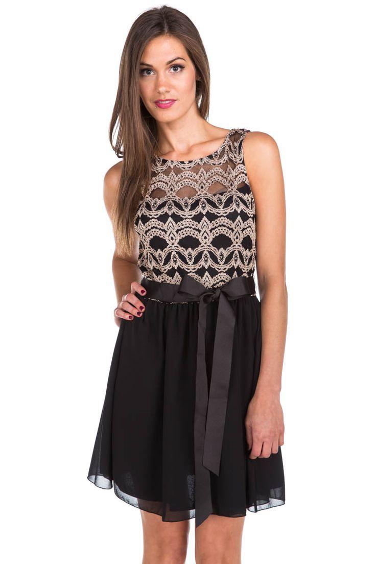 Lace Open Back Sleeveless Dress