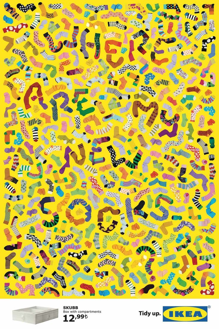 This almost chaotic Ikea ad may be easier to read at a distance, but there is very impressive typography at work here that gives the ad a very playful feeling.