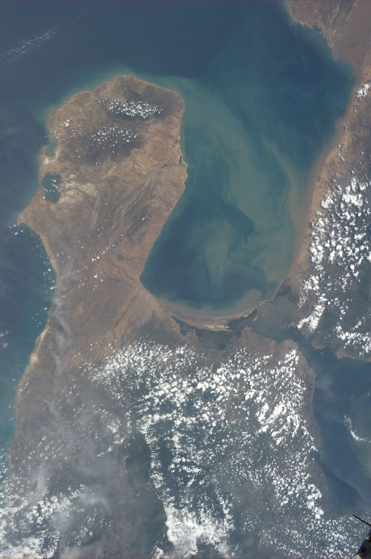 Gulf of Venezuela.  KN from space.