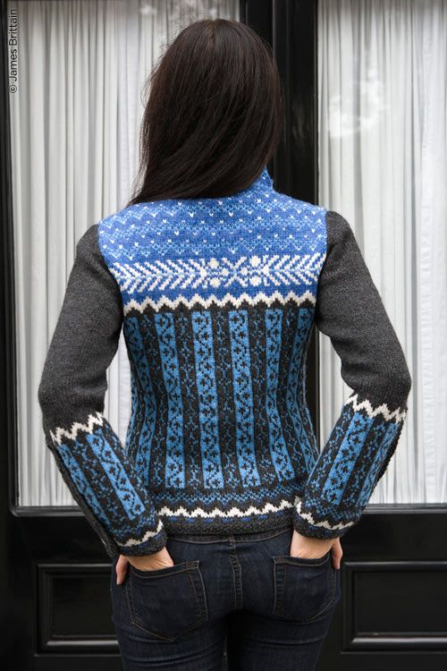 Athabasca by Fiona Ellis from Twist Collective, knit in Valley Yarns Northampton