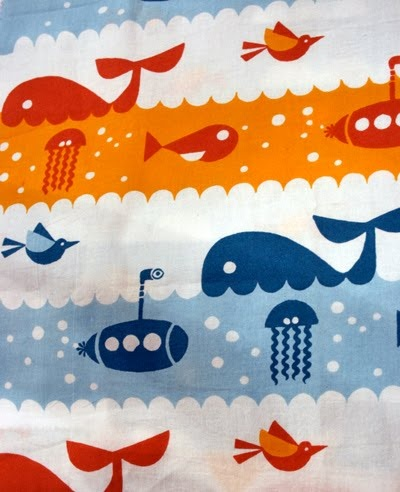whale, under the sea pattern