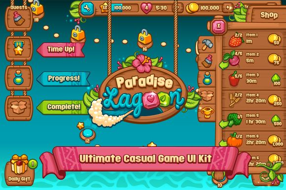 Ultimate Casual Game UI Kit by Vectricity Designs on Creative Market