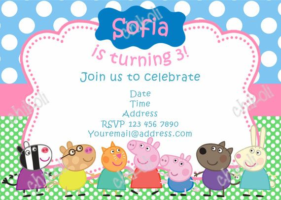 Peppa Pig Idea invitación