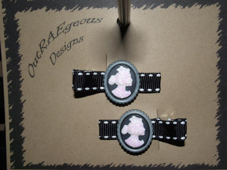 adorable barrettes handcrafted in Victoria BC.