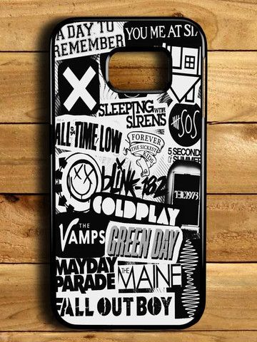 5sos Coldplay Fall Out Boy The Vamps 1975 Samsung Galaxy S6 Edge Case