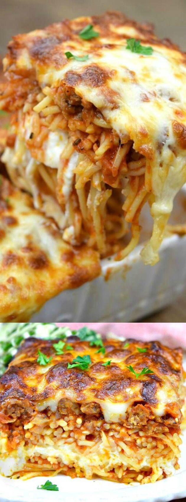 This Million Dollar Spaghetti from Gonna Want Seconds is super easy to throw together! This is one of our favorite ways to serve spaghetti and people just can't get enough of it!