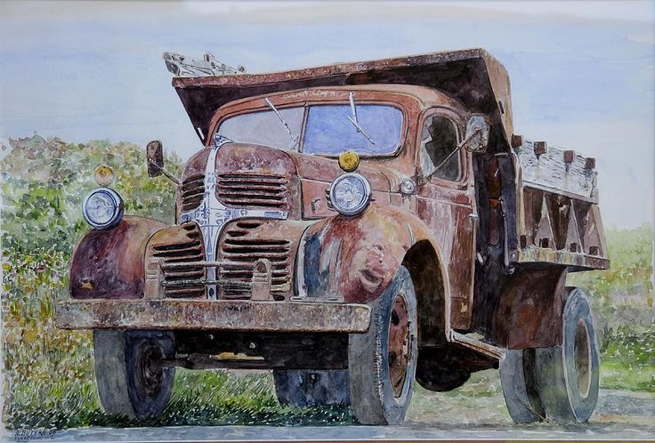 old farm truck print by anthony butera. Black Bedroom Furniture Sets. Home Design Ideas