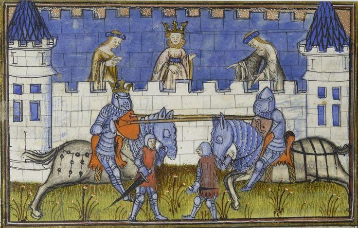Henri de Ferrières, « Le Livre du roi Modus et de la royne Racio ». Date d'édition : 1401-1425 Type : manuscrit Langue : Français  Droits : domaine public Identifiant : ark:/12148/btv1b530841494