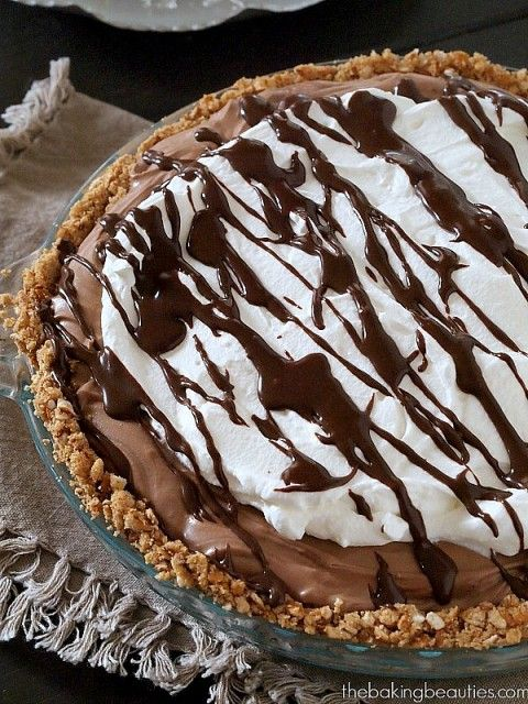 Pass the fork! No-Bake Gluten-Free Chocolate Cream Pie from the Baking Beauties