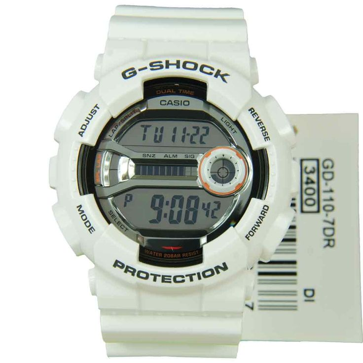 Casio G Shock Dual Time Mens Watch GD 110 7 GD110 Stuff To Buy