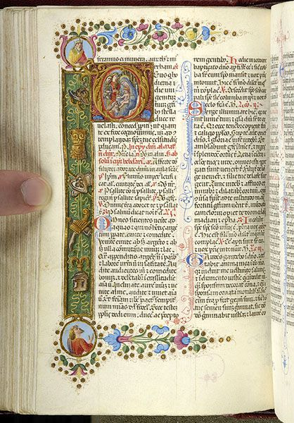 Piccolomini breviary, MS M.799 fol. 95v - Images from Medieval and Renaissance Manuscripts - The Morgan Library & Museum
