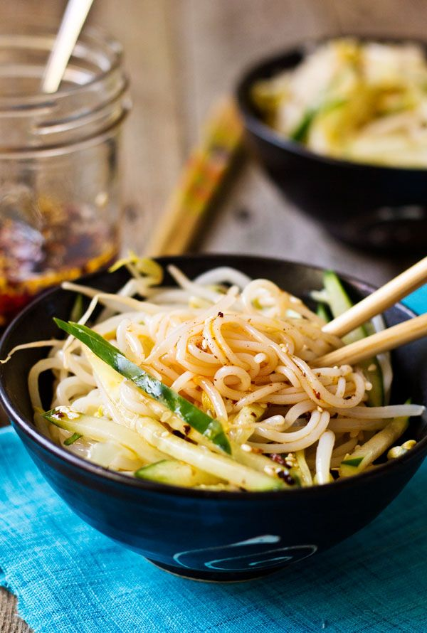 You'll never forget this simple but deeply flavored authentic Chinese rice noodle salad. It's a great choice for a side dish, potluck parties, and picnics.