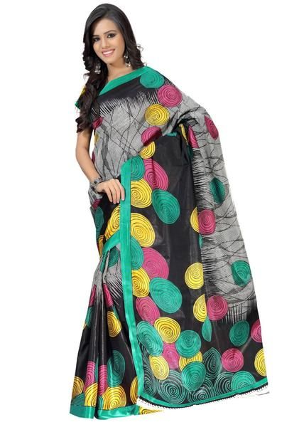 LadyIndia.com # Party Wear Saris, Shop Online Bollywood Black Printed Saree For Women, Designer Sarees, Party Wear Saris, https://ladyindia.com/collections/ethnic-wear/products/shop-online-bollywood-black-printed-saree-for-women