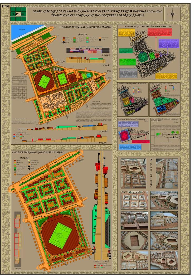 Şehir ve Bölge Planlama Bölümü Öğrencileri Bitirme Projesi Yarışması 2011- 2012 1 Nolu Pafta [benim istediğim renk]  hadi karar verelim !