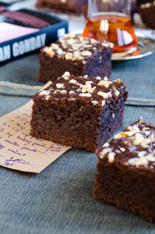 Fudgy apple brownies are perfect in Fall! | giverecipe.com | #apple, #chocolate #brownies