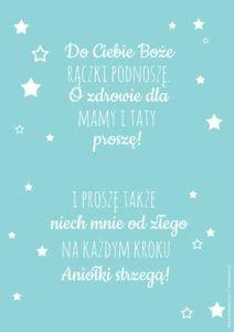 Plakat z modlitwą Do Ciebie Boże