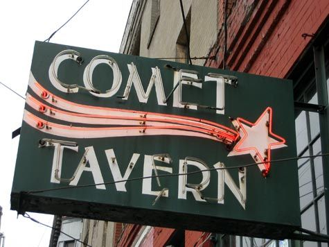 Merriment :: Seattle Comet Tavern Neon Sign by Kathy Beymer