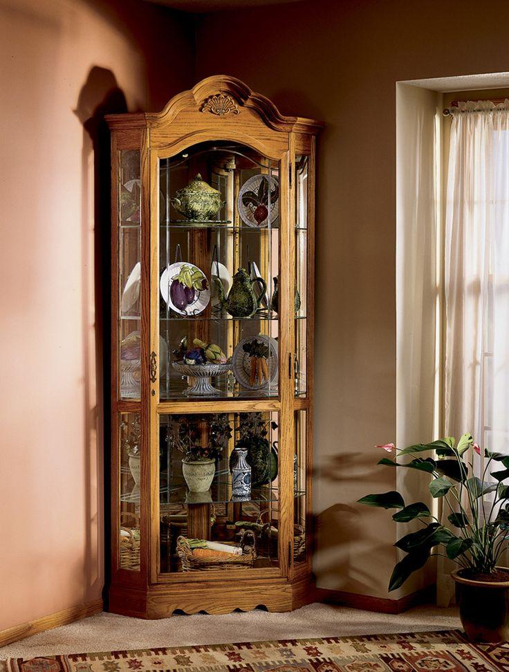 Elegant Howard Miller Wilshire Corner Curio Cabinet