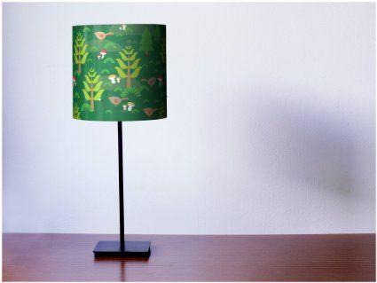 YOURDEA - schöne Kinder Nachttischleuchte mit Motiv: Grüner Wald inklusive LED Leuchtmittel E27 11W 600lm