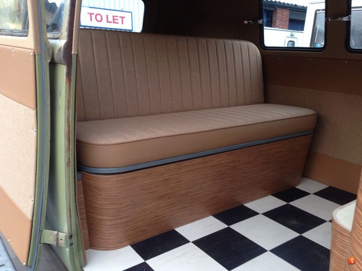 shj joinery rear seat in splitscreen van