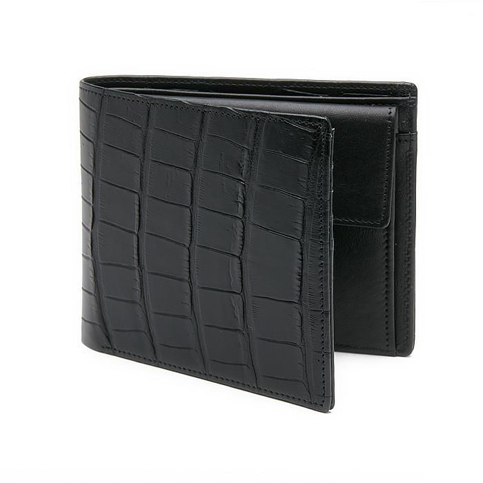 Men´s Wallet ANTORINI Excellence in Black Crocodile Leather