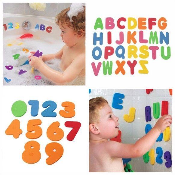 36pcs Foam Letters /& Numbers Water Float Baby Kids Bath Toy Set Educational