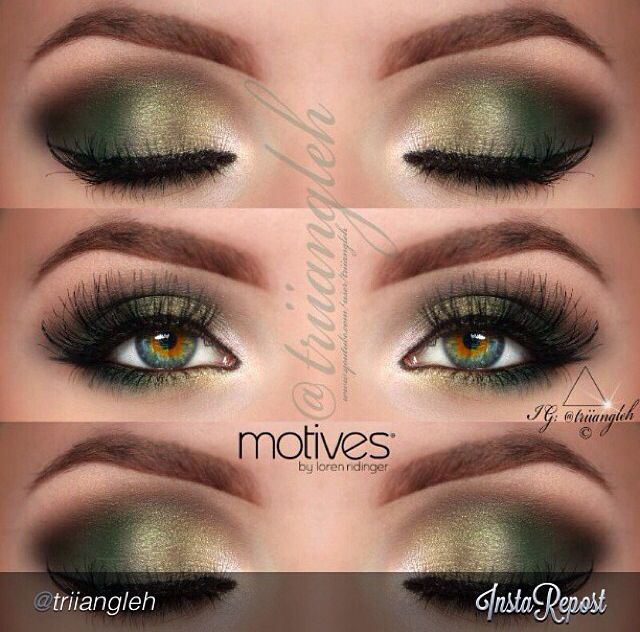 Makeup - beautiful with hazel/green eyes