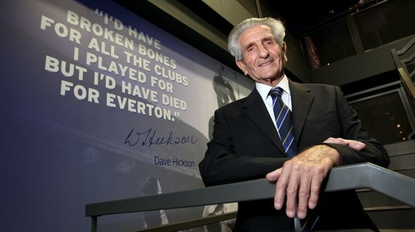 The Cannonball Kid - Dave Hickson. Played for Everton, Liverpool and Tranmere after starting his career at Ellesmere Port. His famous quote is shown in the picture. He was appointed by Everton to do the stadium tours, which is where I met him. A true gentleman.