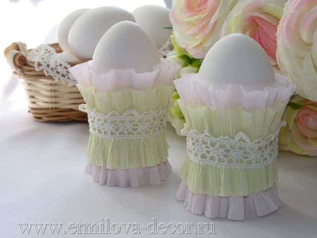 Make Simple Handmade Easter Decorations - Decorative egg cups