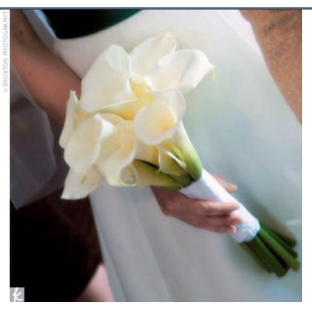 Calla lilly bouquet - gorgeous, nice and simple.