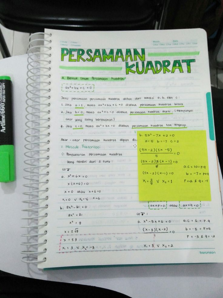 Just making notes for math. D-7 to national exam... Wish me luck