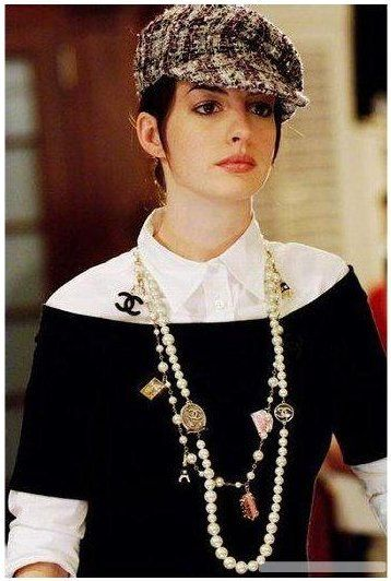 "Anne Hathaway in Chanel...one of my favorite outfits from ""The devil wears Prada""."
