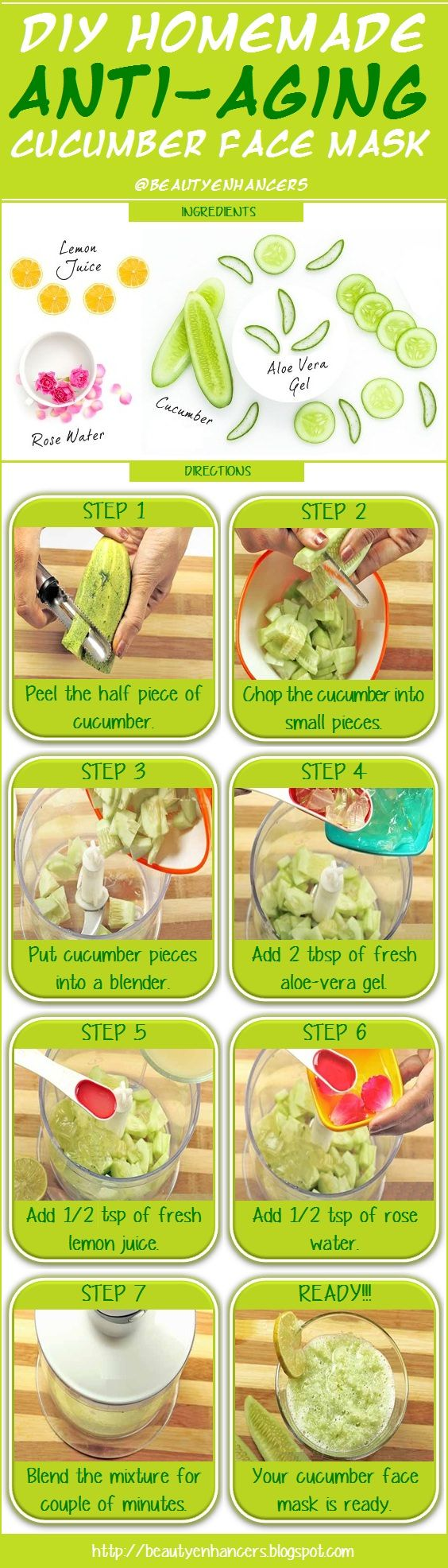 DIY Homemade Anti-Aging Cucumber Face Mask [INFOGRAPHIC]