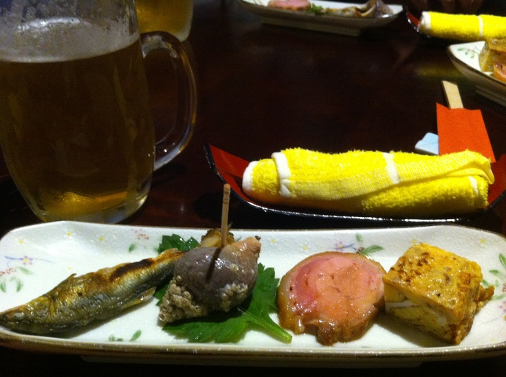 Little delicacies. Japanese entree with Japenese beer. A perfect start to a long dinner of delicious taste sensations all beautifully prepared and presented. Thanks to Kenny who always feeds me so well there.