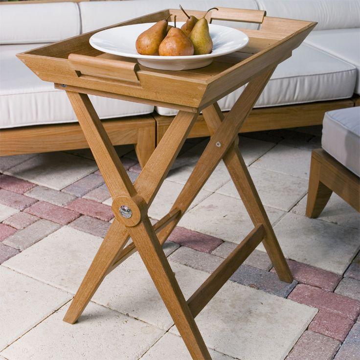 Butler Teak Folding Tray With Teak Serving Tray From Westminster Teak  Furniture