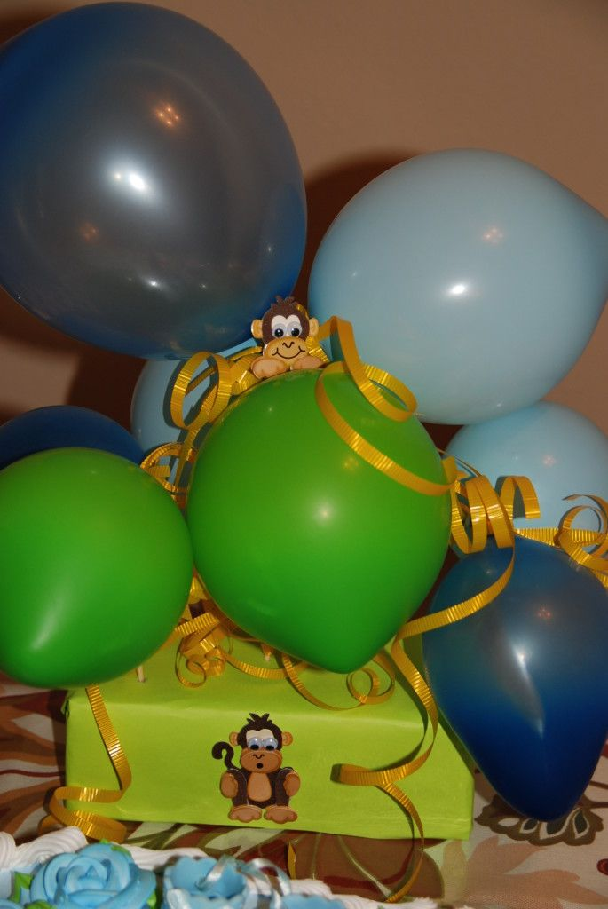 17 best images about baby shower on pinterest miss monkey themed baby showers and baby shower - Monkey balloons for baby shower ...