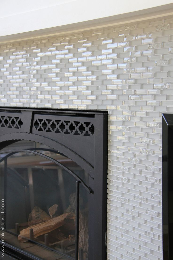 Your home improvements refference mosaic tile fireplace surround - Home Improvement Laying Tile On A Fireplace Walls Or Backsplash