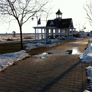 Down on the board walk Cobourg Ontario Canada. my favorite place to walk!