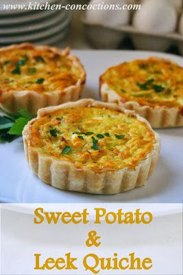 Sweet Potato and Leek Quiche Recipe - Quiche is a brunch staple. This vegetarian version has grated sweet potatoes and chopped leeks packed into the egg custard for a unique and tasty flavor profile.