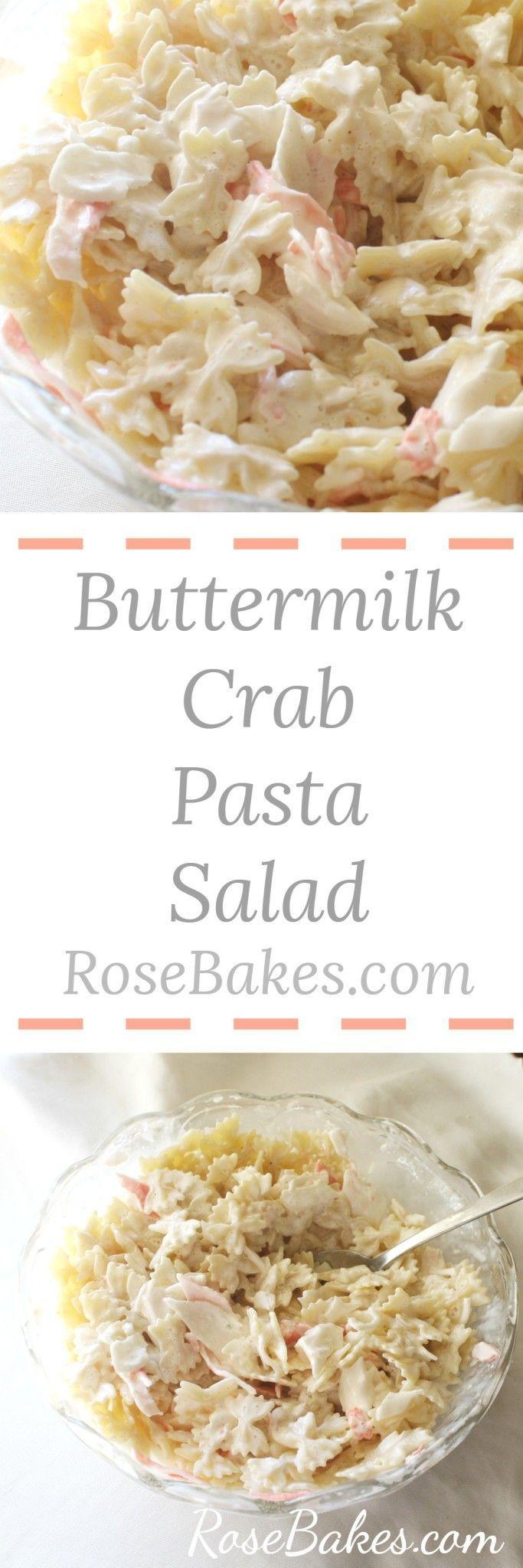 Seafood & Crab Buttermilk Pasta Salad Recipejpg
