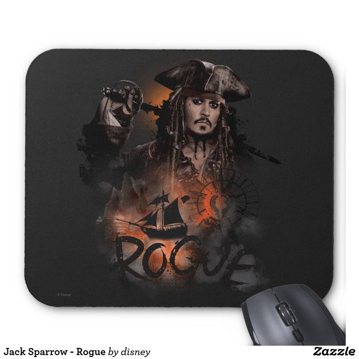 Jack Sparrow - Rogue. Producto disponible en tienda Zazzle. Tecnología. Product available in Zazzle store. Technology. Regalos, Gifts. #Mousepads