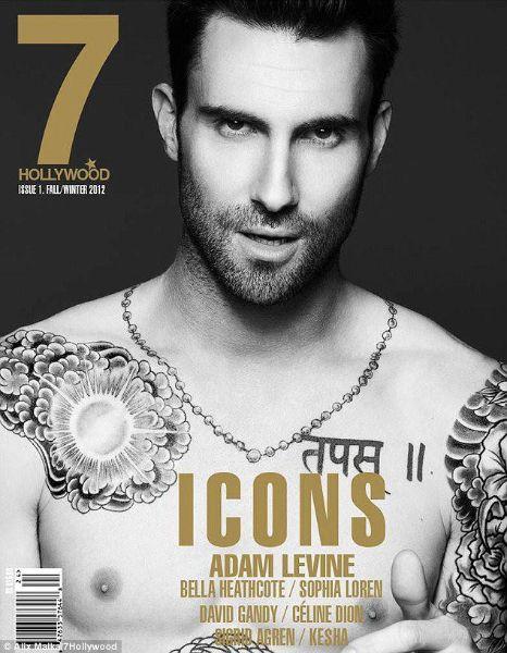 Adam Levine - tattoos