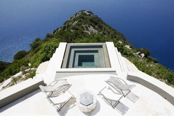 Villa Delphina Greece holiday home stunning Mediterranean view sea