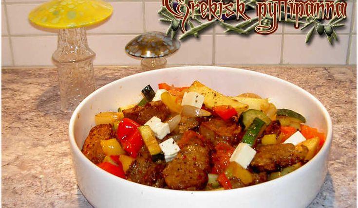 Grekisk pyttipanna - Recept
